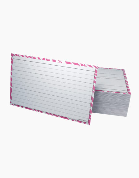 flashcards groot A6 roze
