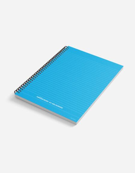 notitieboek A4 blauw