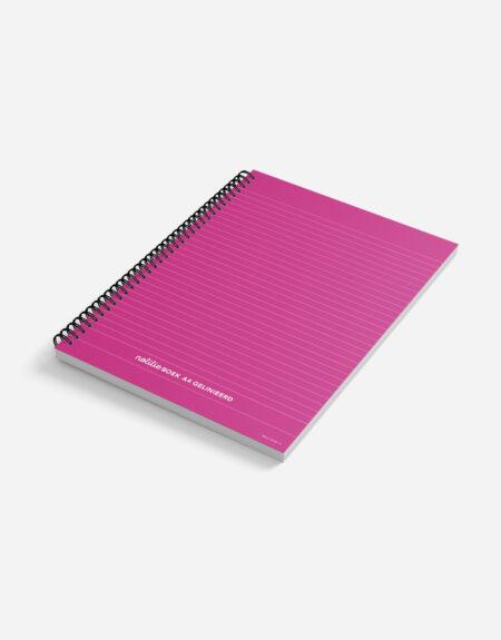 notitieboek A4 roze
