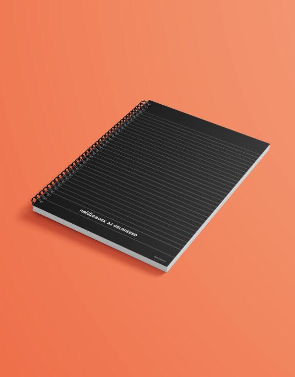 notitieboek_A4_zwart_gekleurdeachtergrond