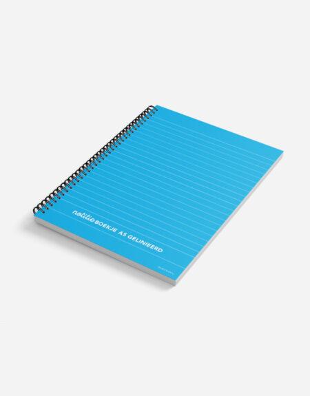 notitieboekje A5 blauw