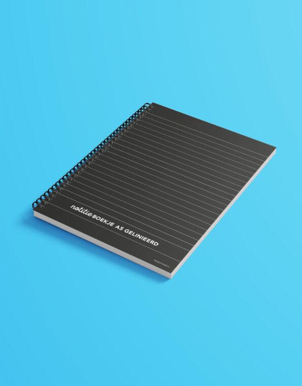 notitieboekje_A5_zwart_gekleurdeachtergrond