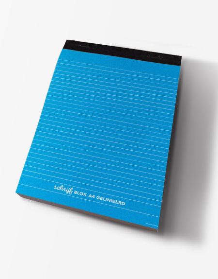 schrijfblok A4 blauw