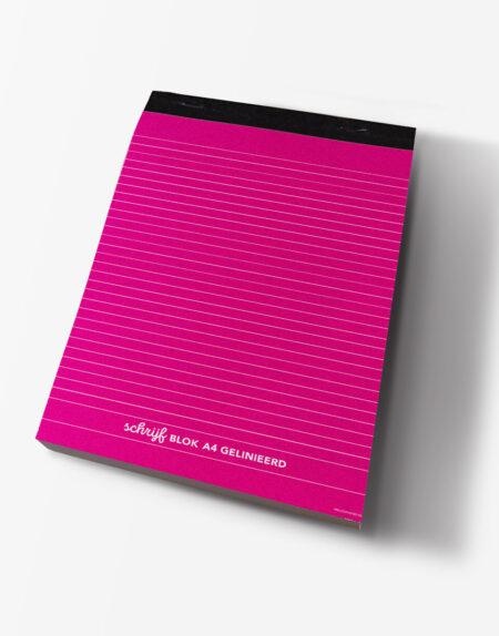 schrijfblok A4 roze