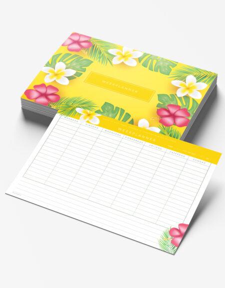 weekplanner A4 week planning bloemen